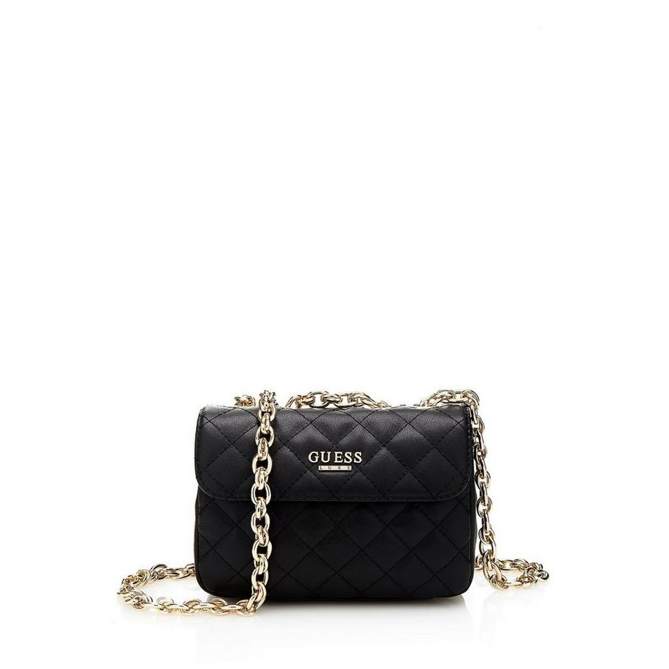 Guess Tasche »Suave Quilted Crossbody Mini Flap« in Schwarz
