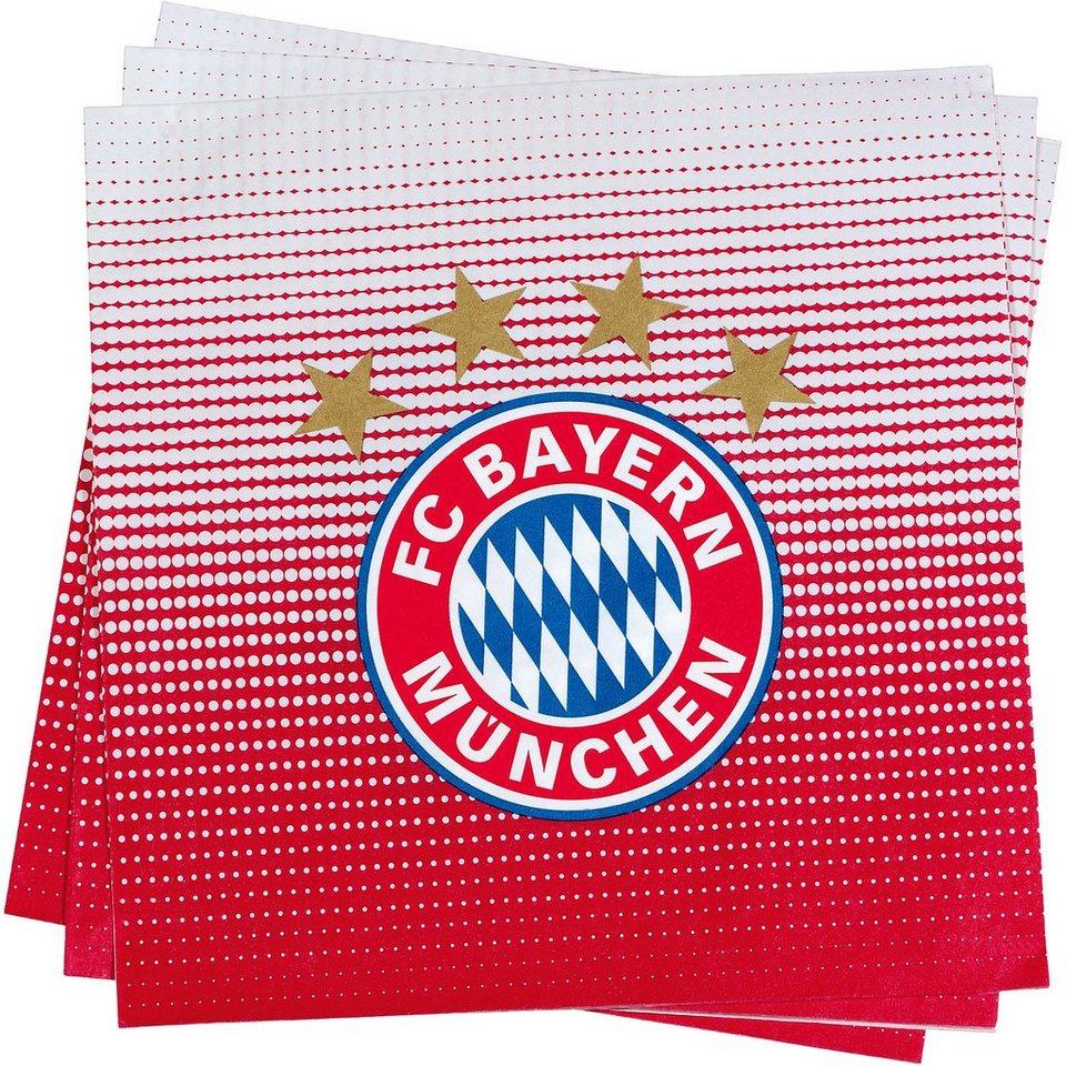 Servietten FC Bayern München in rot