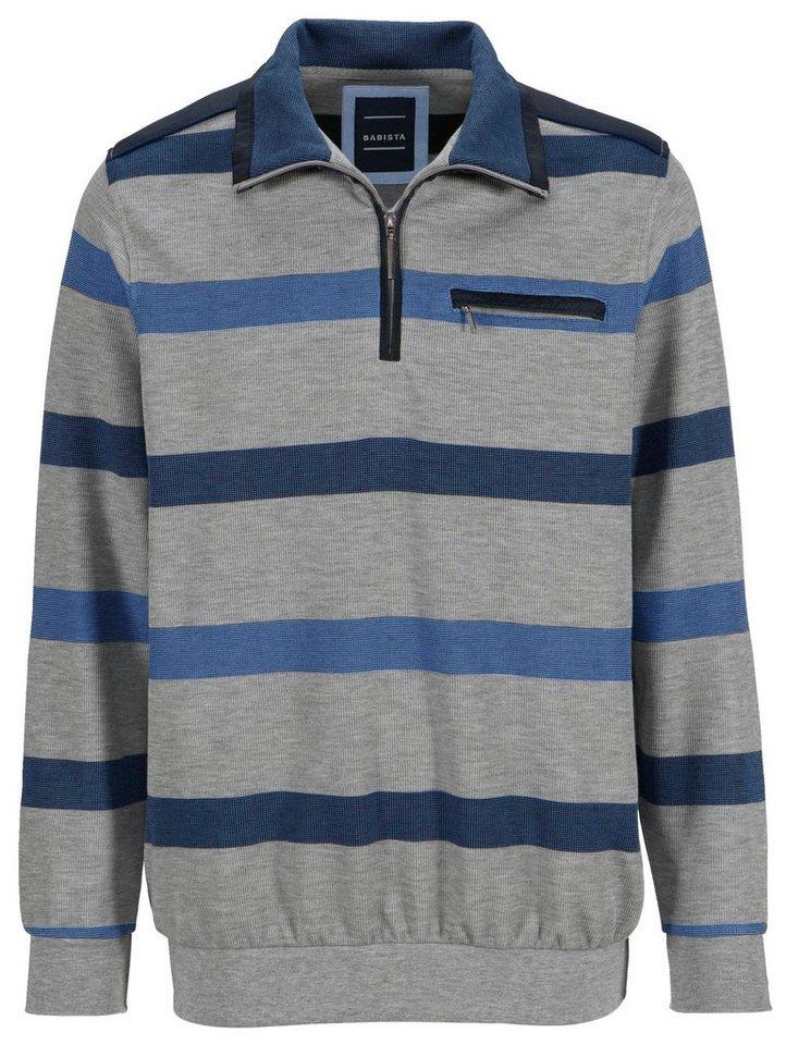 Babista Sweatshirt in grau-blau