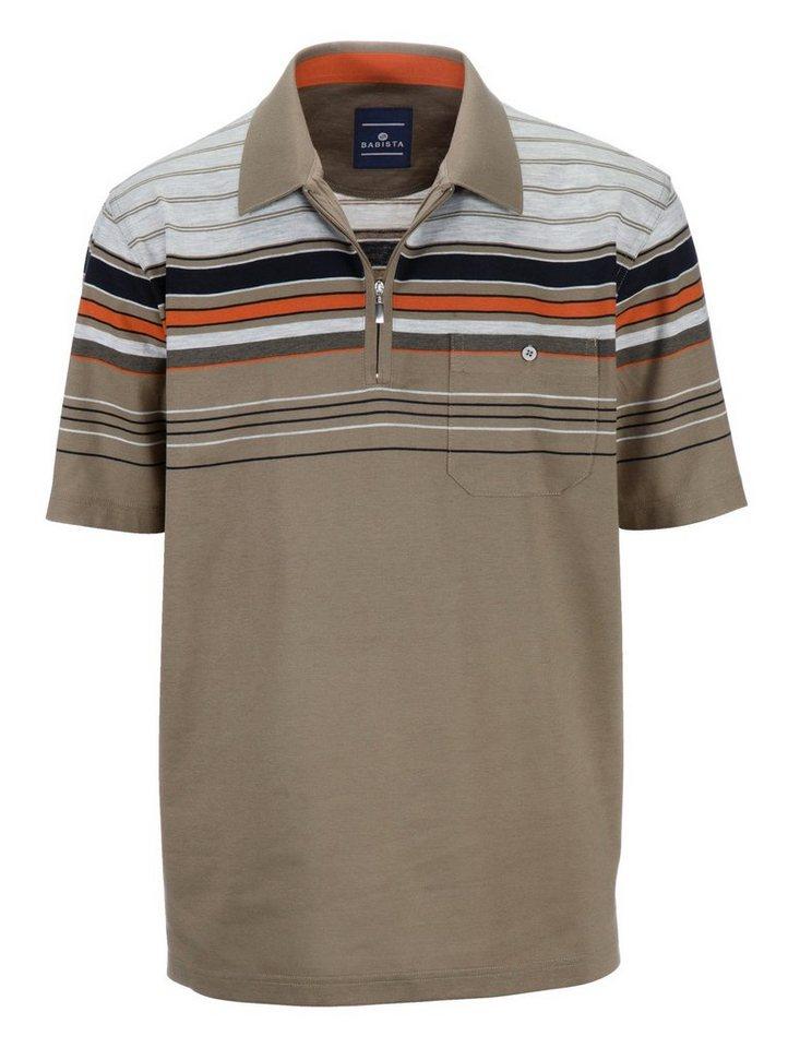 Babista Poloshirt in oliv-orange