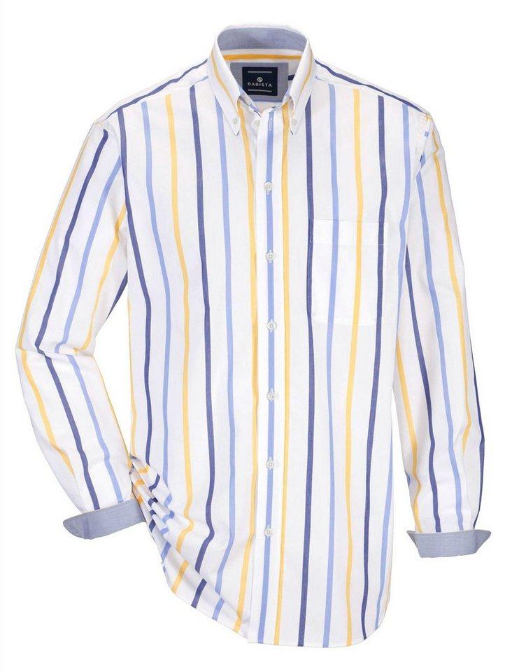 Babista Hemd in weiß-blau-gelb
