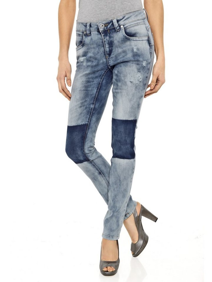 Skinny-Jeans in blue stone