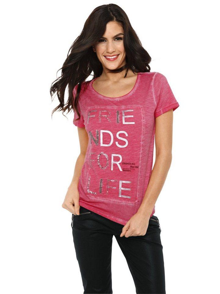 Druckshirt in pink