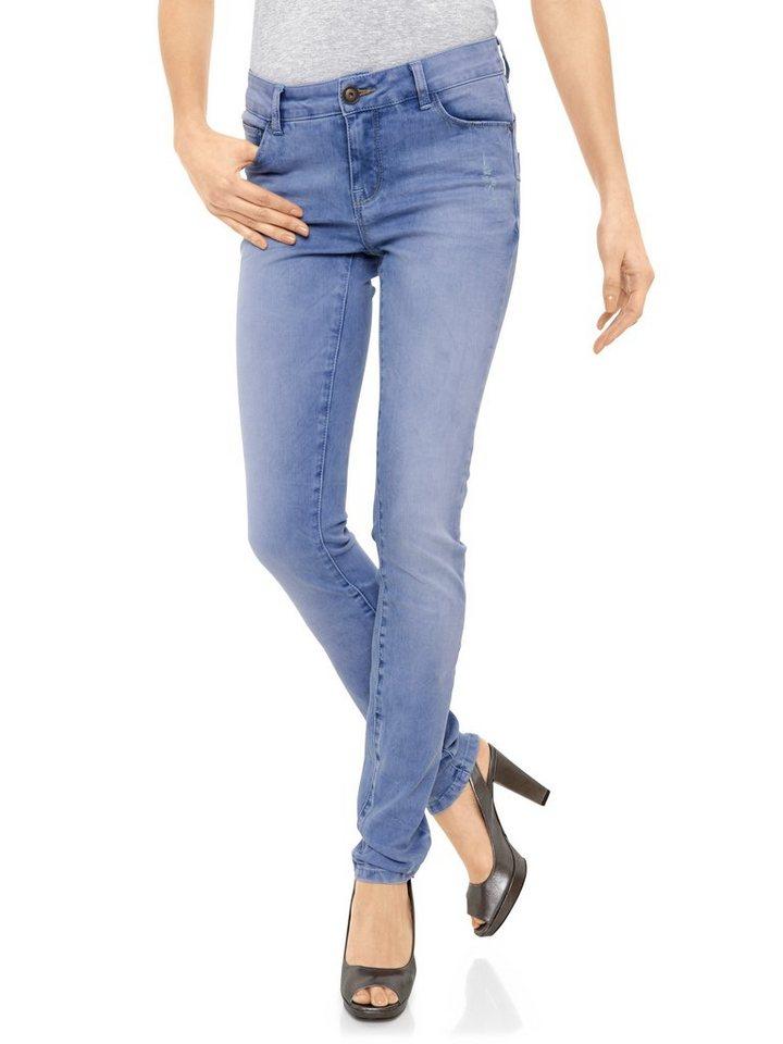 Skinny-Jeans in hellblau