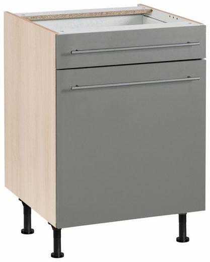 OPTIFIT Unterschrank »Bern« 60 cm breit, mit 1 Tür, mit 1 Schubkasten, mit höhenverstellbaren Füßen, mit Metallgriffen