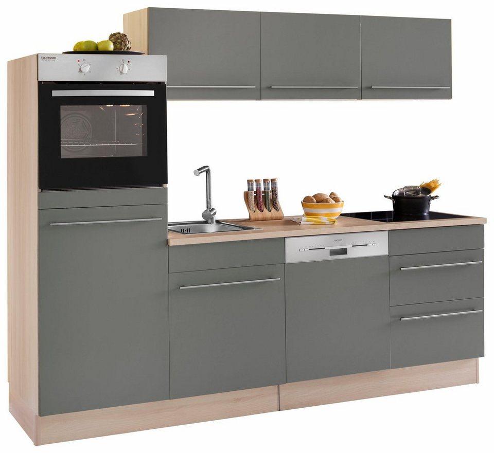Optifit Küchenzeile ohne E-Geräte »Bern«, Breite 240 cm in basaltgrau