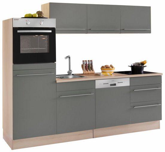 OPTIFIT Küchenzeile »Bern«, ohne E-Geräte, Breite 240 cm mit höhenverstellbaren Füßen