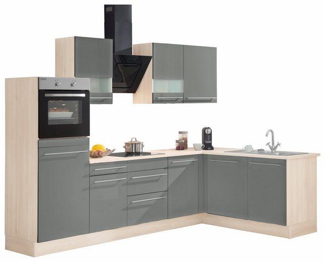 OPTIFIT Winkelküche »Bern«, mit E-Geräten, Stellbreite 285 x 175 cm
