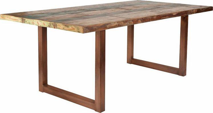 SIT Esstisch »Tops«, aus recyceltem Altholz und Metall