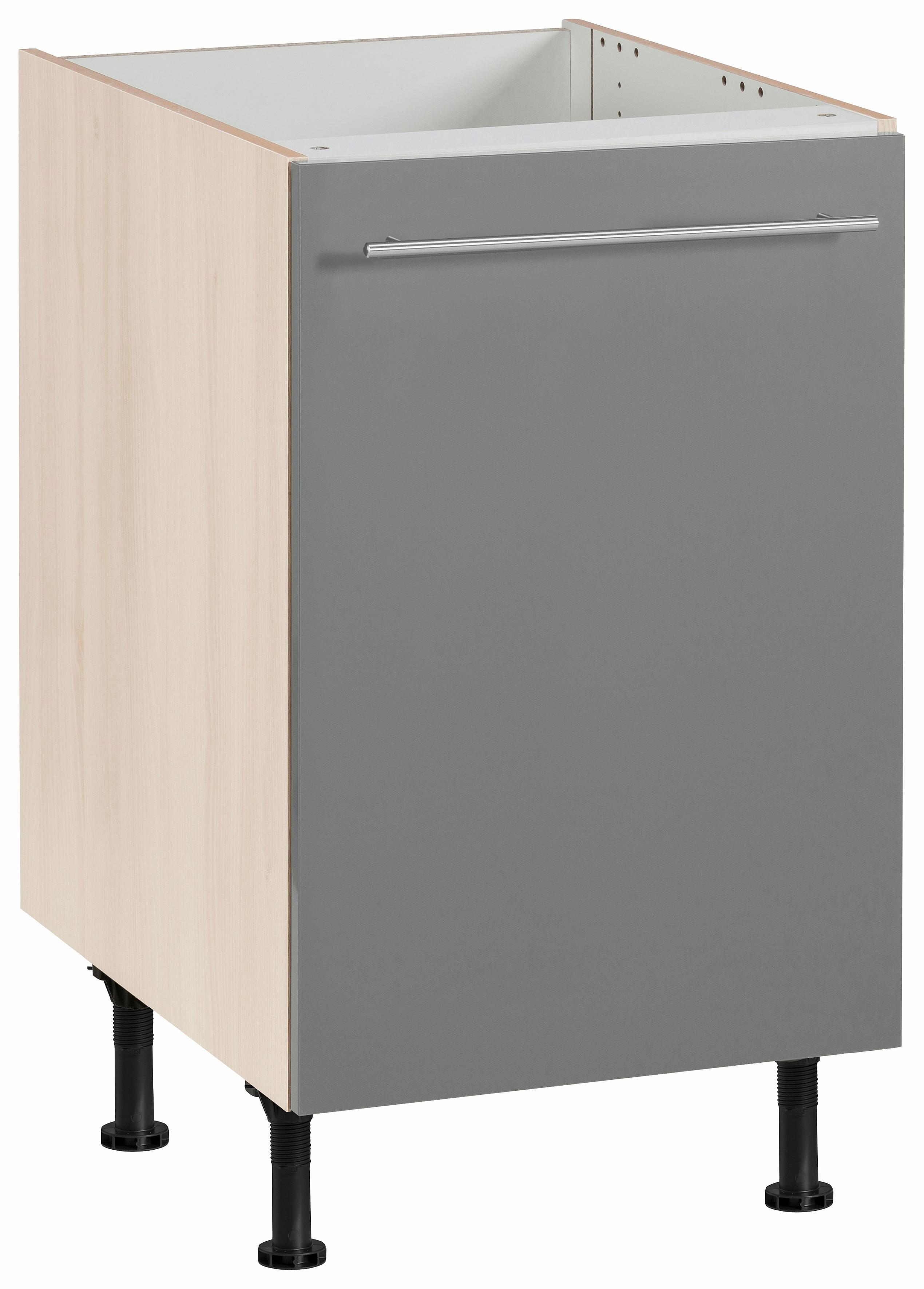 OPTIFIT Spülenschrank »Bern«, Breite 50 cm | Küche und Esszimmer > Küchenschränke > Spülenschränke | Lava - Weiß - Hochglanz | Lack - Hochglanz - Edelstahl - Melamin | OPTIFIT