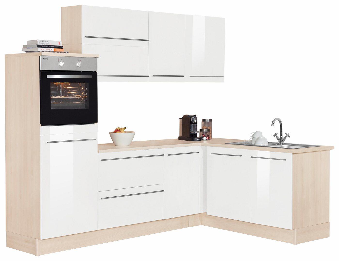 OPTIFIT Winkelküche »Winkelküche«, ohne E-Geräte, Stellbreite 255 x 175 cm mit höhenverstellbaren Füßen   Küche und Esszimmer > Küchen > Winkelküchen   Weiß   OPTIFIT