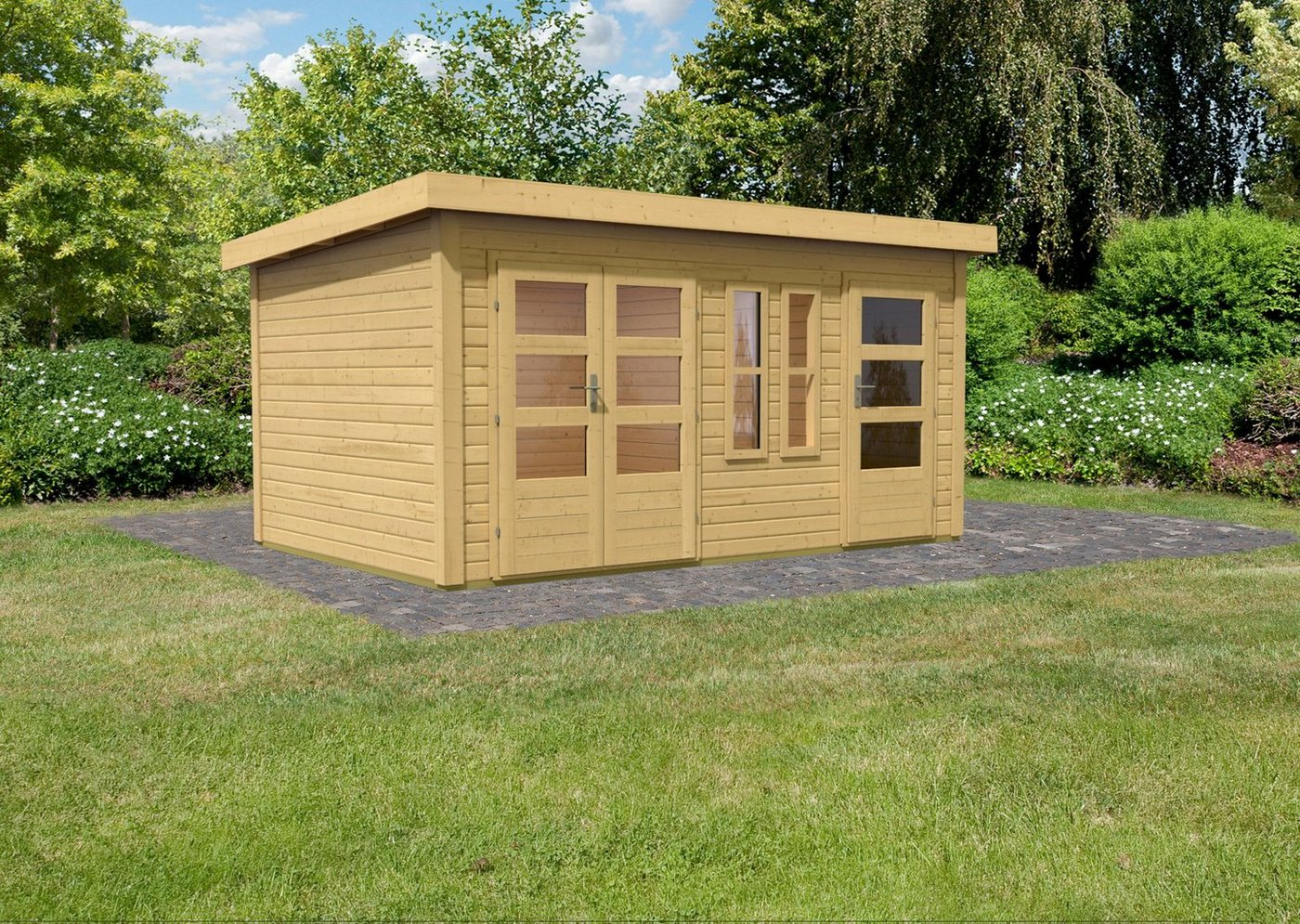 gartenhaus 40 mm preisvergleiche erfahrungsberichte und. Black Bedroom Furniture Sets. Home Design Ideas