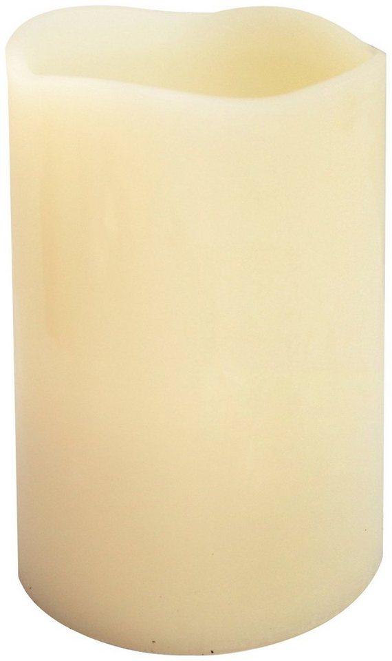 LED Dekoleuchte »Echtwachskerze«, Höhe 12,5 cm, 3er-Set in natur