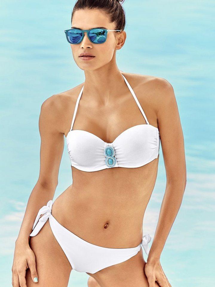 Bandeau-Bikini in weiß