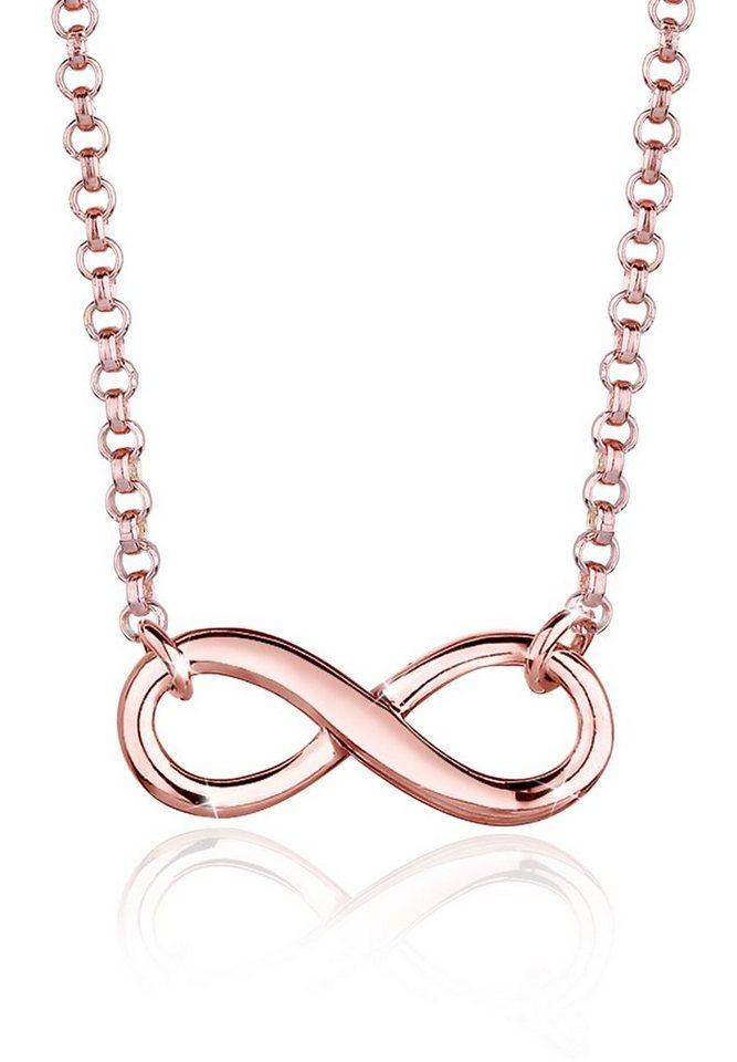 Elli Halskette »Infinity Unendlichkeit 925 Silber rosé vergoldet« - Preisvergleich