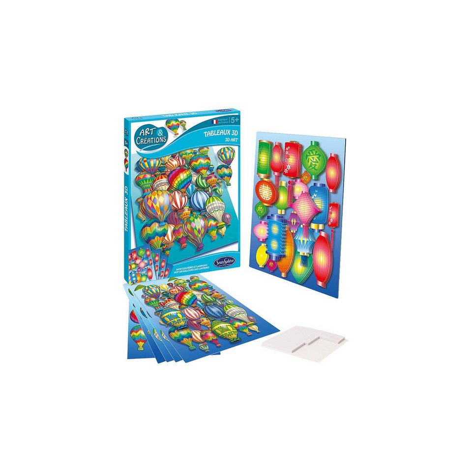 SentoSphere Kreativset 3D Klebebild Heissluftballons & Lampions