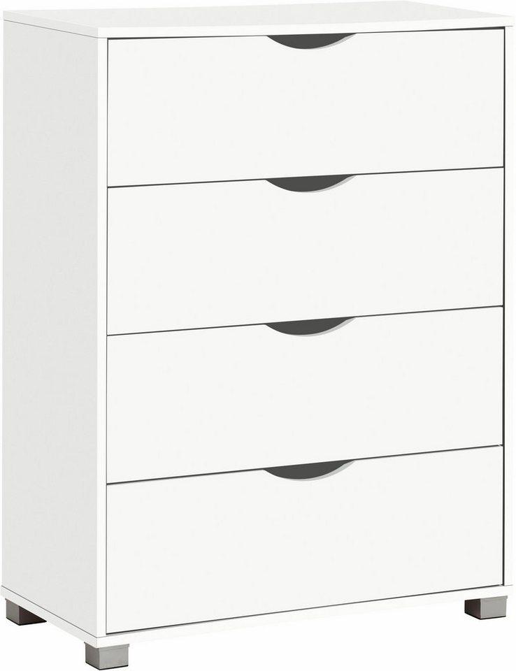 Kommode »Neva«, Breite 75 cm in weiß-weiß