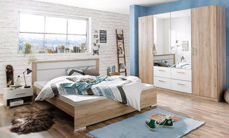 rauch Schlafzimmer-Set (4-tlg.) in eichefb. San Remo/weiß