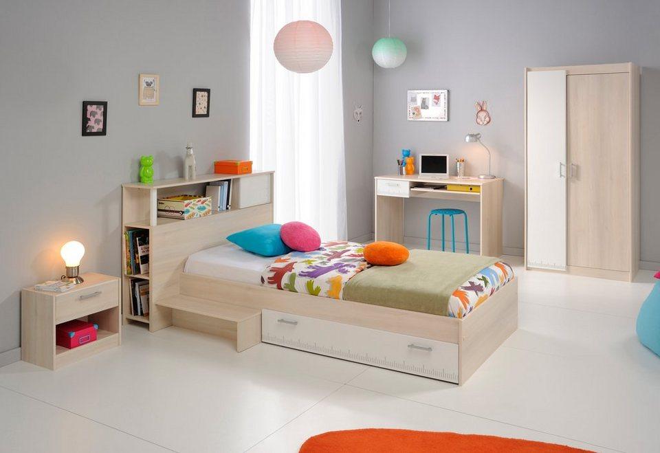 Parisot Jugendzimmer-Set (5-tlg.) »Charly« in akaziefarben/weiß