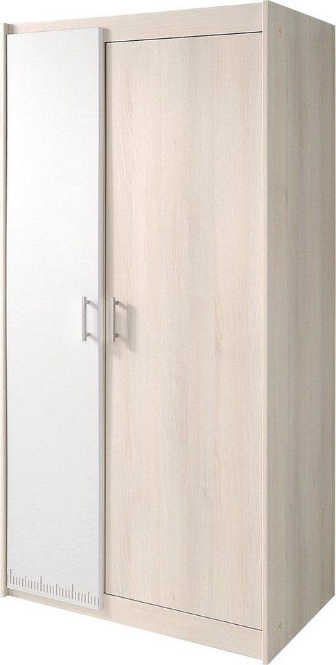 Parisot Kleiderschrank »Charly« in akaziefarben/weiß