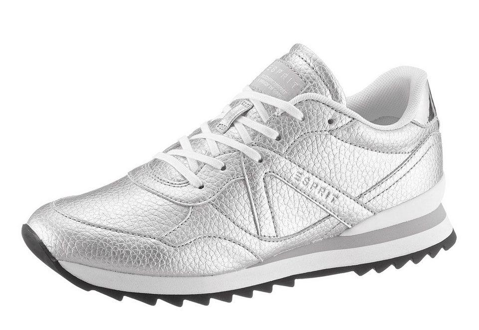 Esprit Sneaker in Metallic Optik in silberfarben