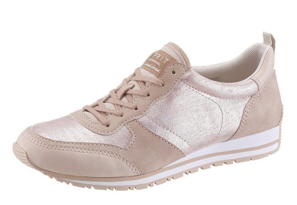 Esprit Sneaker gepolsterter Schaftrand in nude-rosé