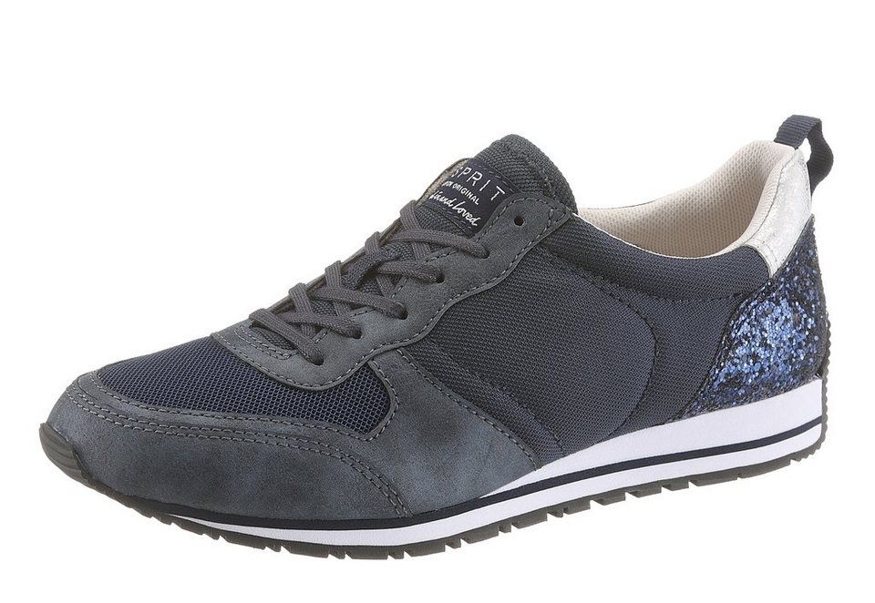 Esprit Sneaker im Materialmix in navy