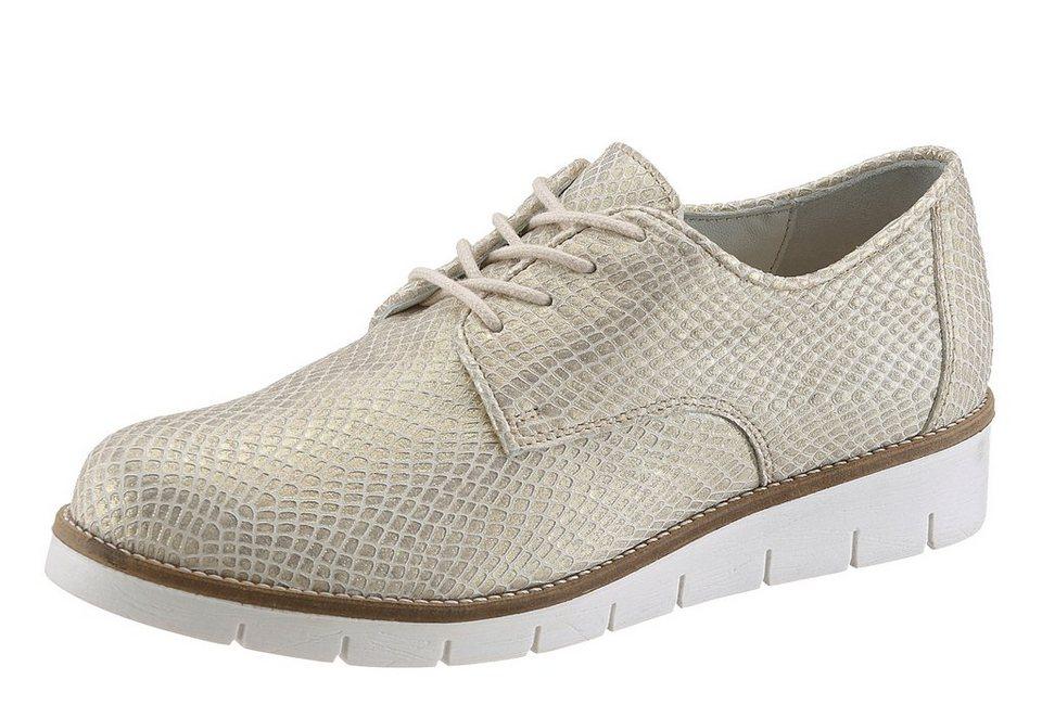 JJ Footwear Schnürer in komfortabler Weite H in goldfarben
