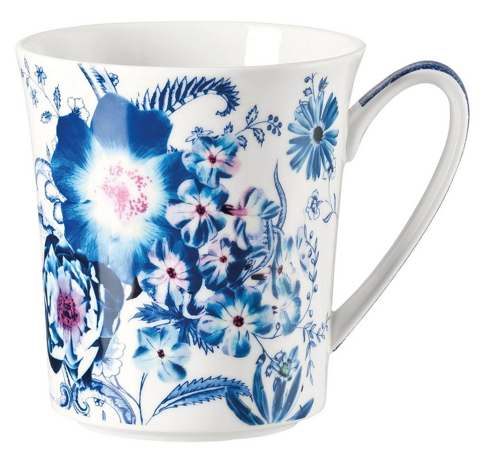 ROSENTHAL Becher mit Henkel, »Belles Fleurs« in blau