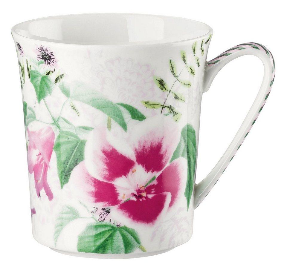 ROSENTHAL Becher mit Henkel, »Belles Fleurs« in rose