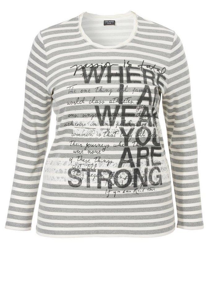 VIA APPIA DUE Sweatshirt »Statement-Print« in SCHWARZ / ECRU