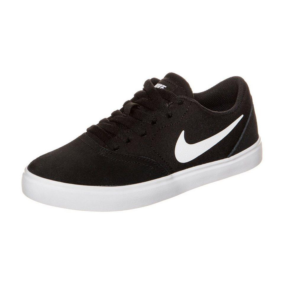 NIKE Check Sneaker Kinder in schwarz / weiß