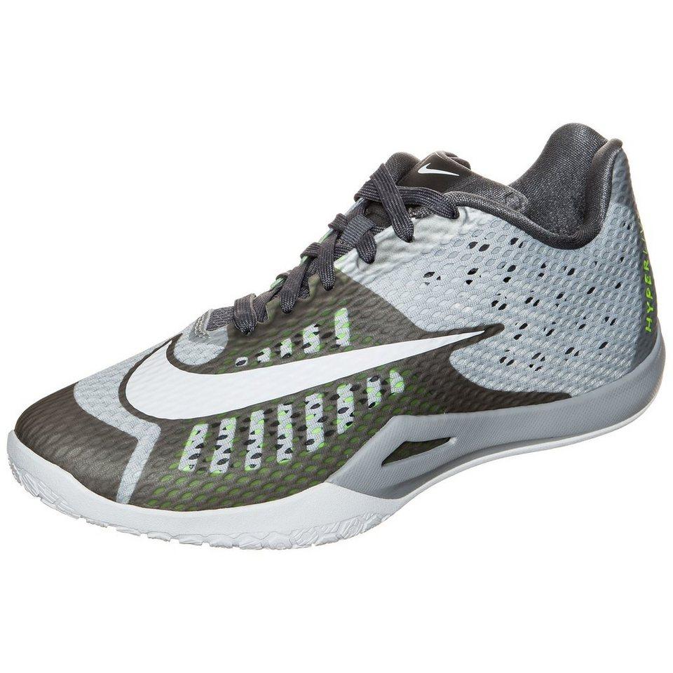 NIKE HyperLive Basketballschuh Herren in grau / weiß