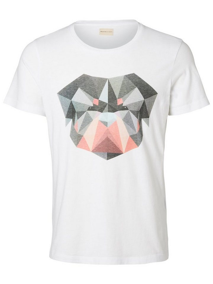 Selected Regular-Fit- T-Shirt in White 1