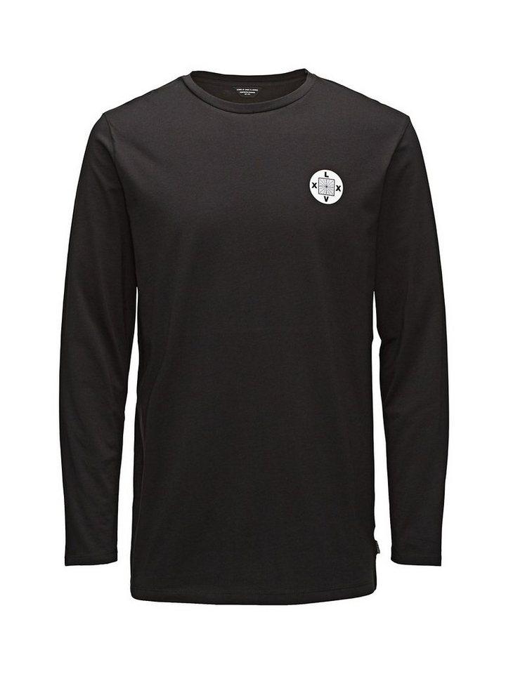 Jack & Jones Vielseitiges T-Shirt mit langen Ärmeln in Black