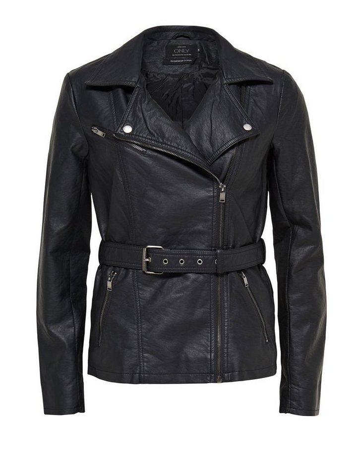 Only Lederlook- Jacke in Black