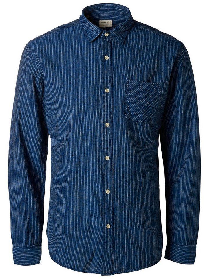 Selected Slim Fit - Langarmhemd in Dark Blue 2