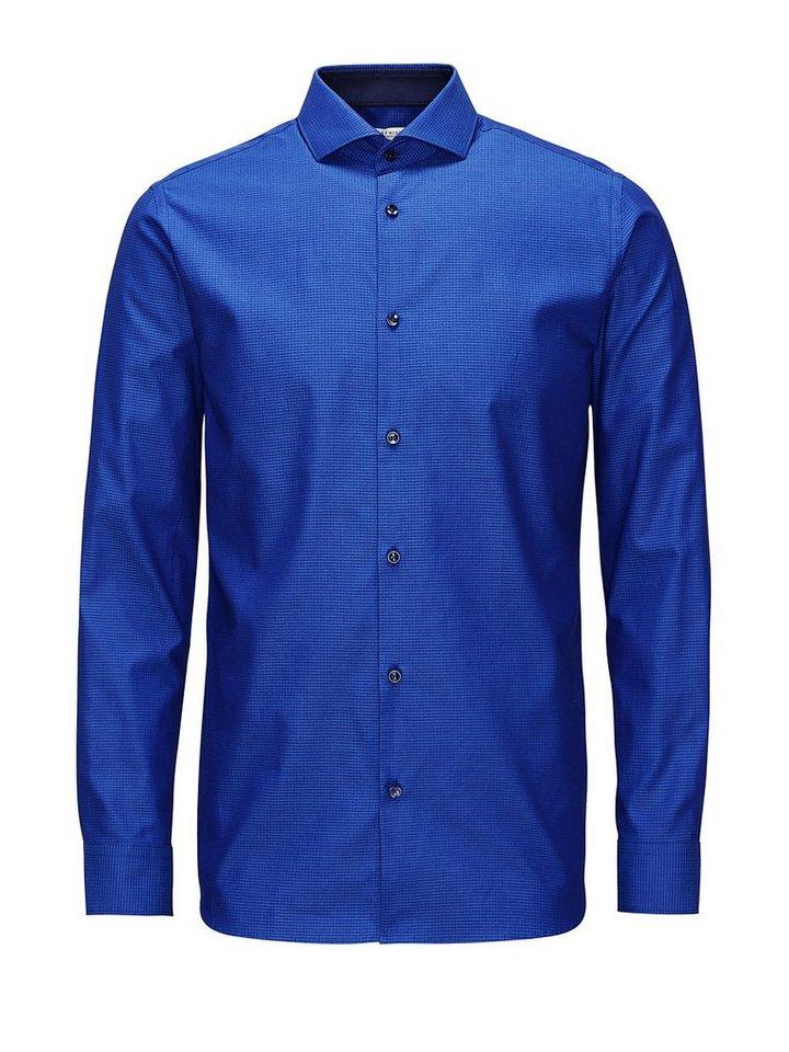 Jack & Jones Aus italienischem Stoff gefertigtes Businesshemd in Navy Blazer