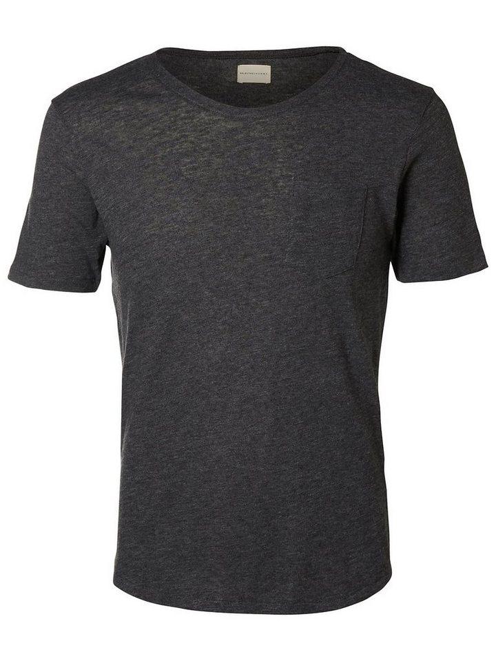 Selected Rundausschnitt T-Shirt in Black