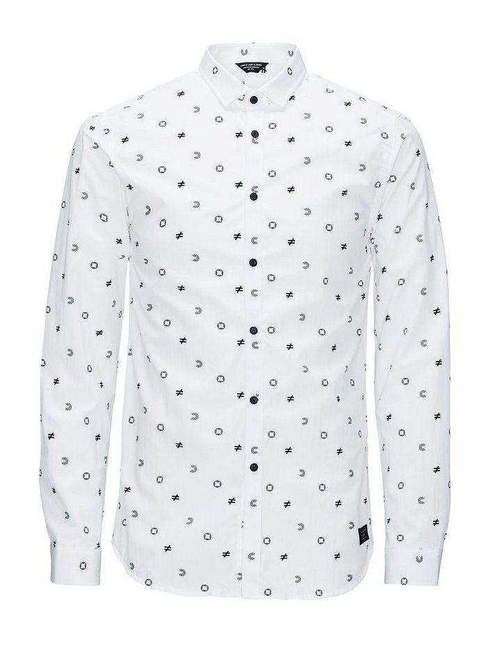 Jack & Jones Komplett bedrucktes Langarmhemd in White