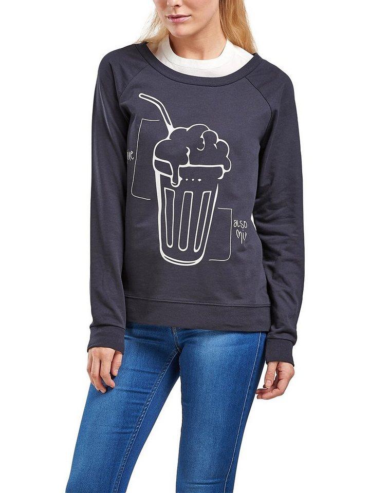 Only Bedrucktes Sweatshirt in Dark Navy