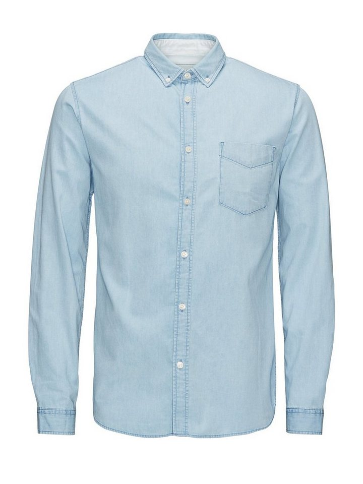 Jack & Jones Slim-Fit- Jeanshemd in Light Blue Denim 2