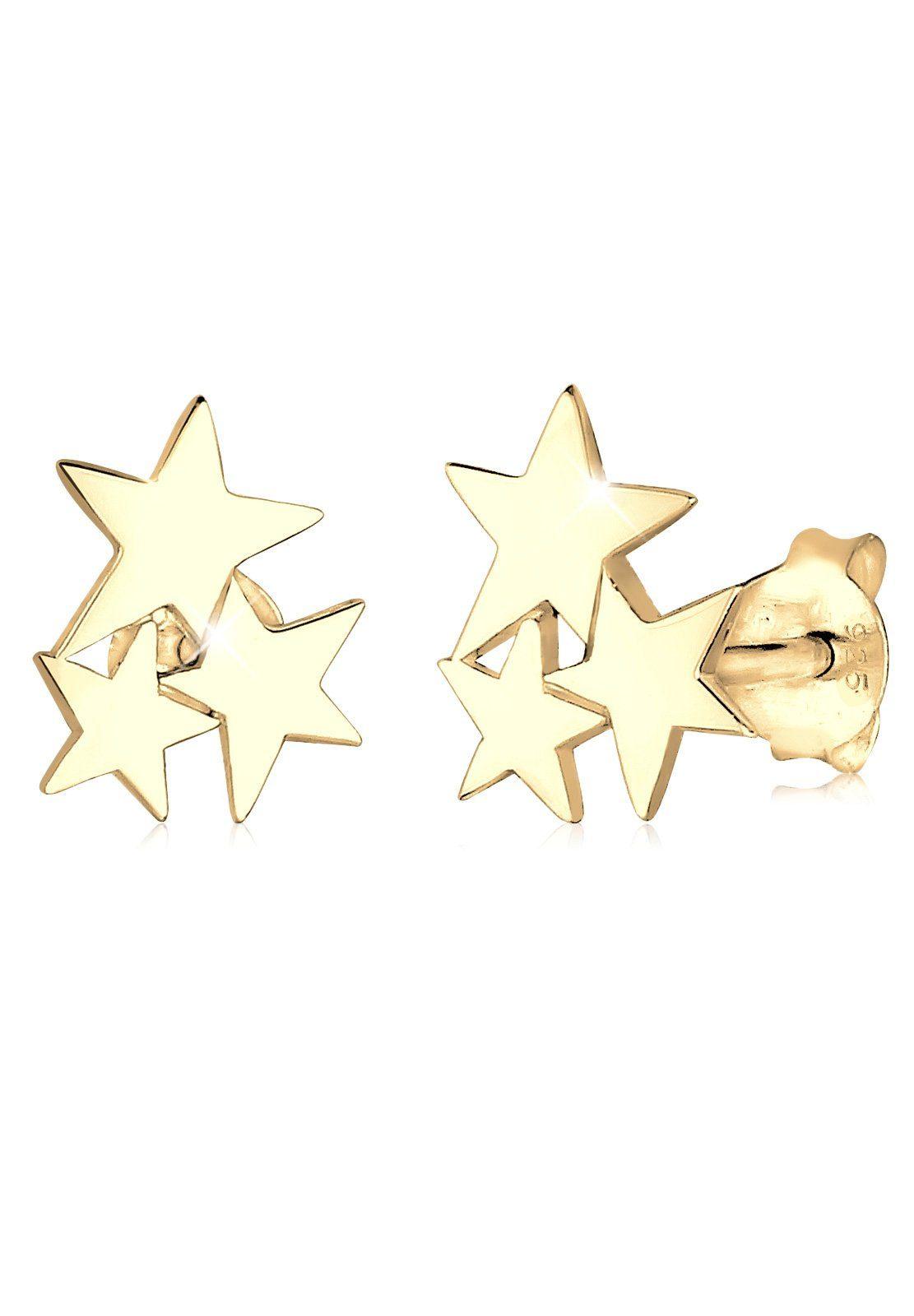 GOLDHIMMEL Ohrringe »Sterne Astro Trend Star 925 Silber vergoldet«