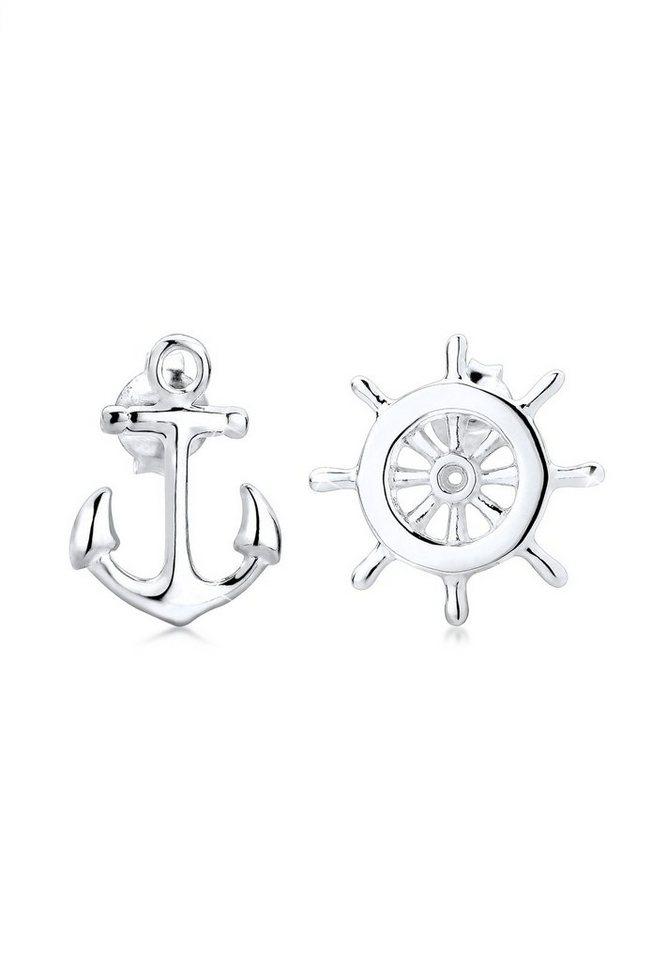 Elli Ohrringe »Anker Steuerrad Maritim Sailor Filigran 925 Silber« in Silber