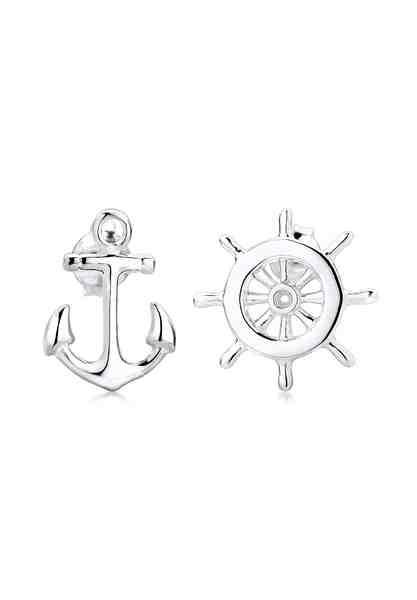 Elli Ohrringe »Anker Steuerrad Maritim Sailor Filigran 925 Silber«
