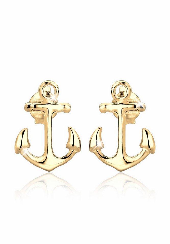 Elli Ohrringe »Anker vergoldet« in Gold