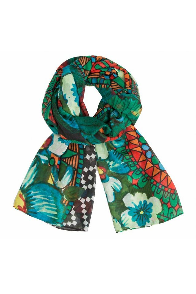 Desigual Schal »FOULARD SUNRISE RECTANGLE« in Grün
