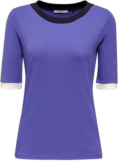 edc by Esprit T-Shirt mit halbem Arm und mit modernen, kontrastfarbigen Blenen