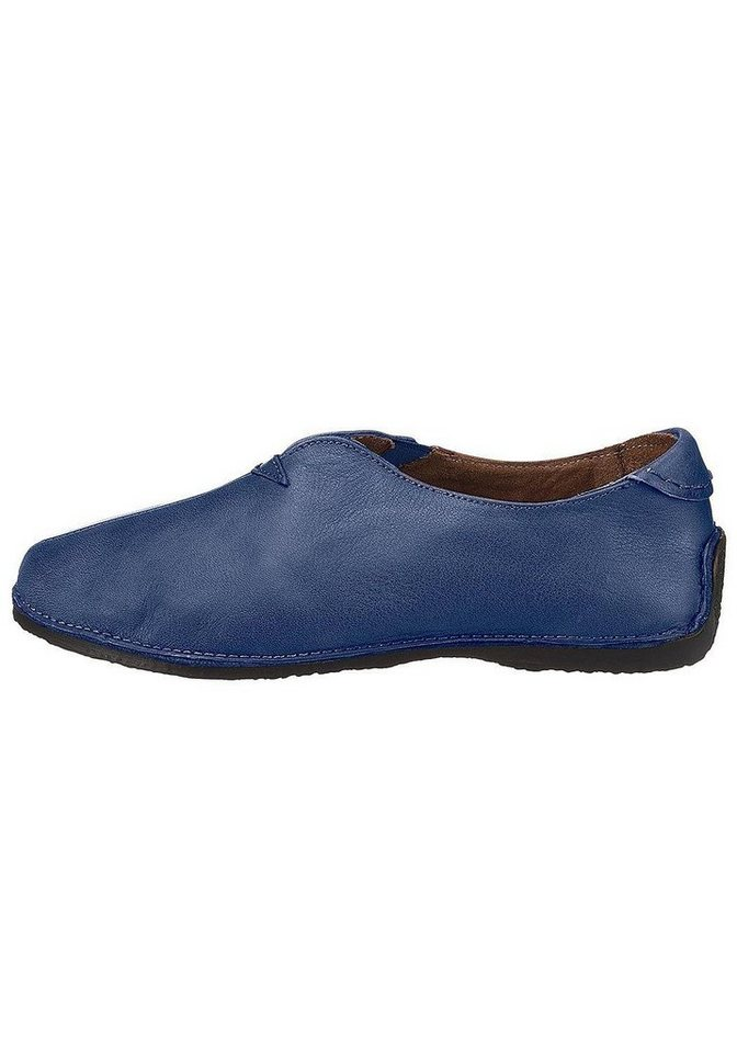 Eddie Bauer Leder-Slipper in Navy