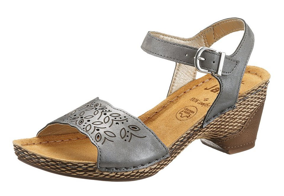 Jana Sandalette in grau metallic